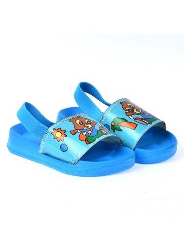 Kiko Kids Kiko Akn E405.084 Plaj Havuz Kız Çocuk Sandalet Terlik Turkuaz